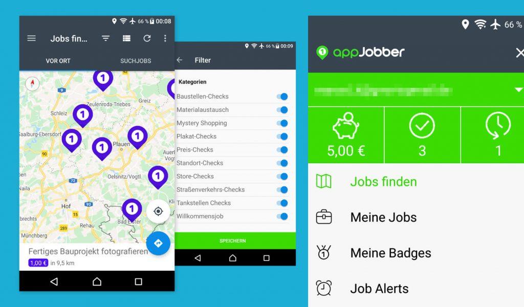 Geld verdienen mit Handy und appJobber App (Bild: artofsmart.de)