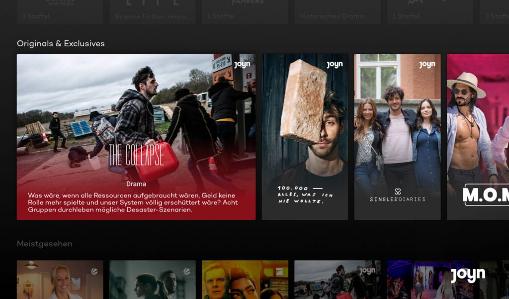 Joyn Fire TV App Originals (Bild: artofsmart.de)