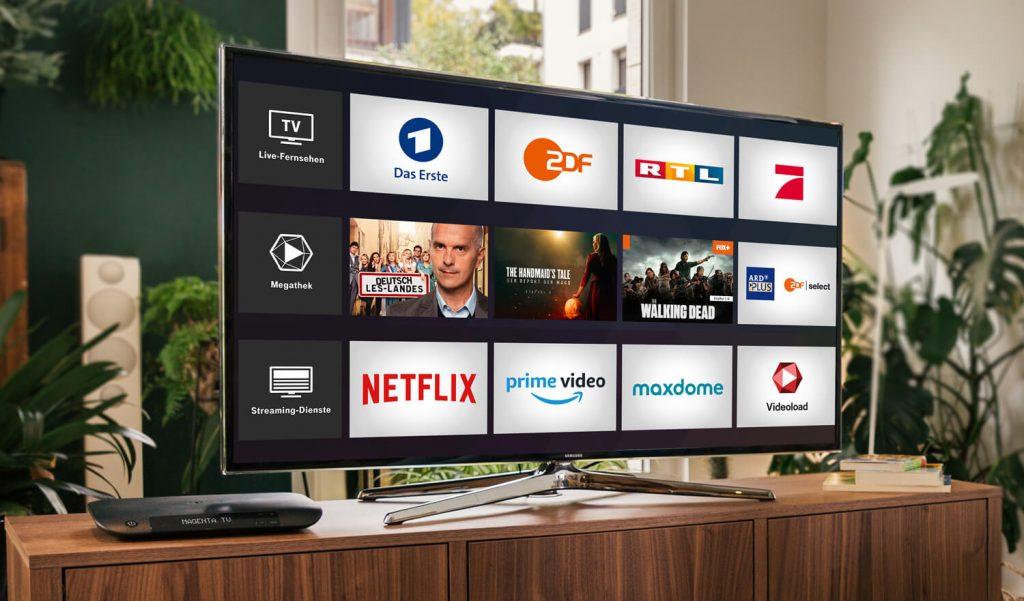 Magenta TV auf dem Fernseher (Bild: Telekom)