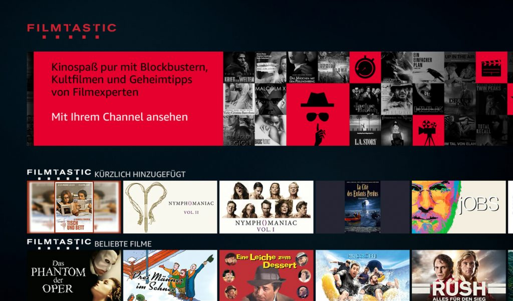 Prime Video Channels Filmtastic (Bild: artofsmart.de)