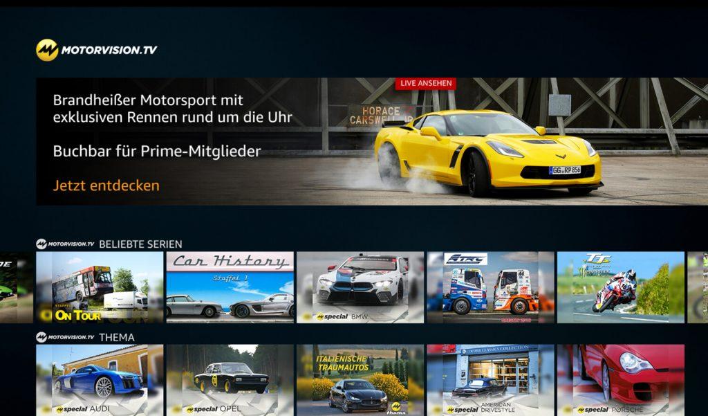 Prime Video Channels Motorvision.TV (Bild: artofsmart.de)