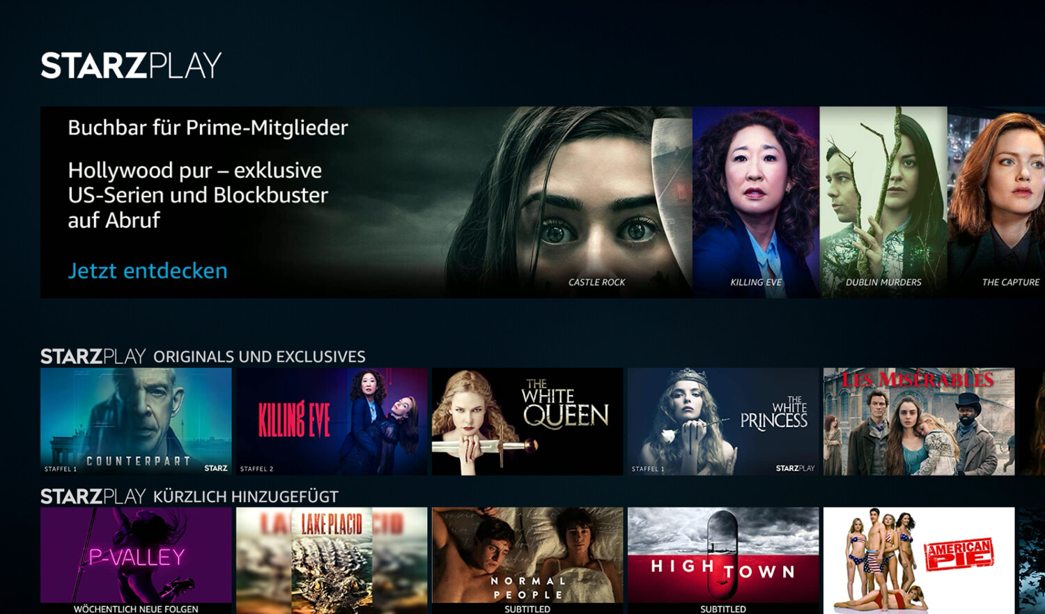 STARZPLAY bei Prime Video Channels