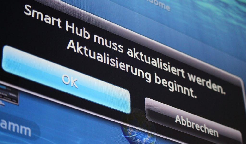 Software-Update am Smart TV (Bild: artofsmart.de)
