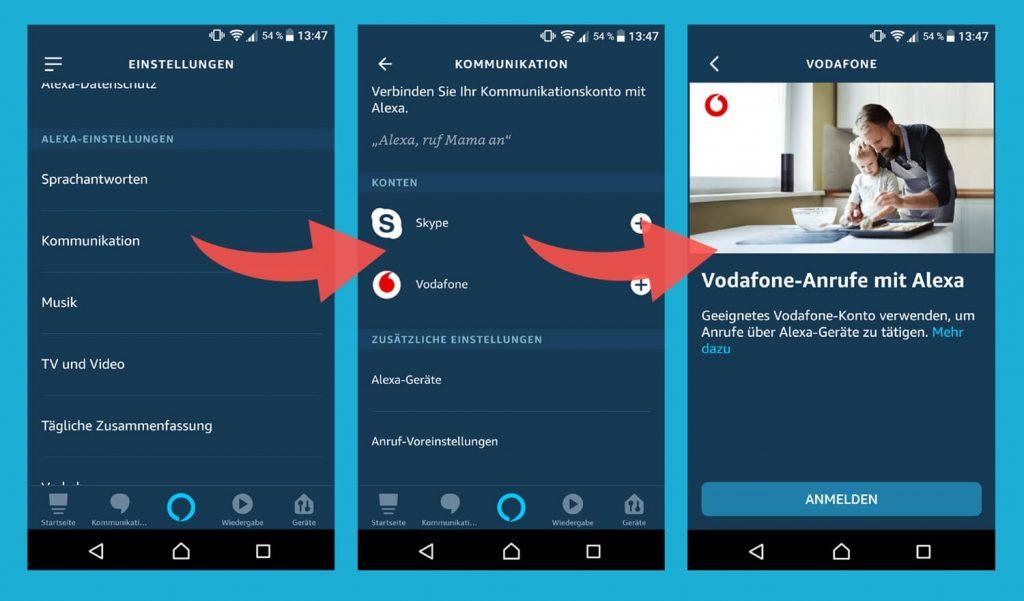 Vodafone mit Alexa-App verbinden (Bild: artofsmart.de)
