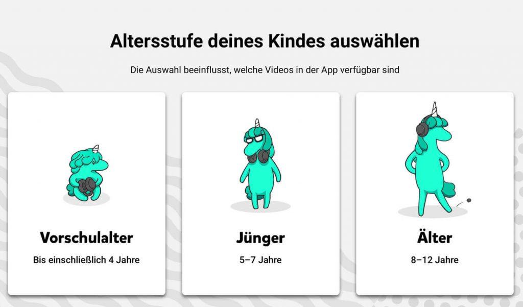 YouTube Kids Altersstufen (Bild: artofsmart.de)