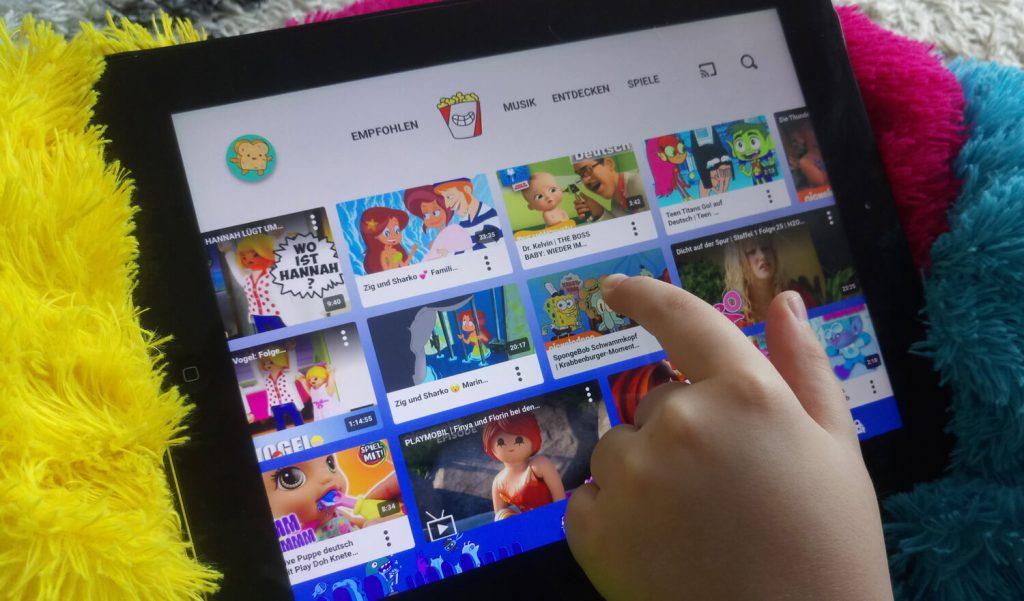 YouTube Kids auf dem Tablet (Bild: artofsmart.de)