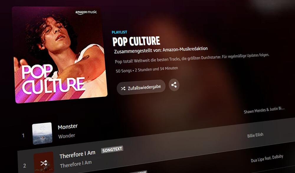 Amazon Music Free: Nur Zufallswiedergabe möglich (Bild: artofsmart.de)