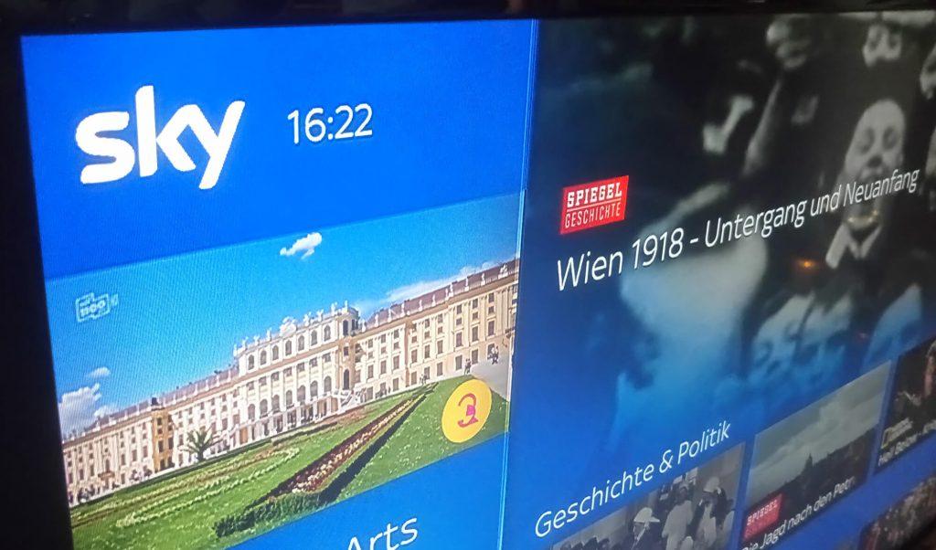 Sky Bildschirm (Bild: artofsmart.de)