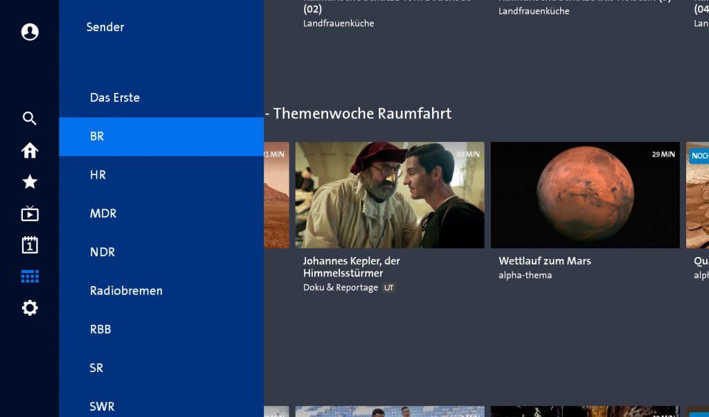 Sender in der ARD Mediathek (Screenshot artofsmart.de)