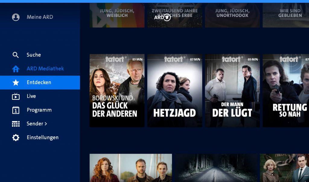 ARD Mediathek Entdecken (Screenshot artofsmart.de)