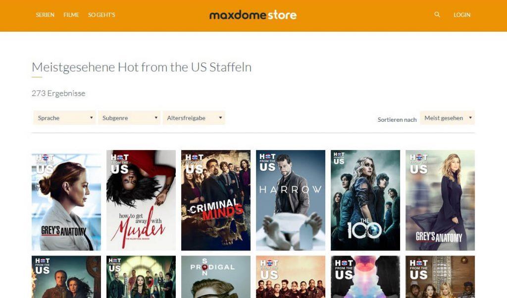 Maxdome Store Serien