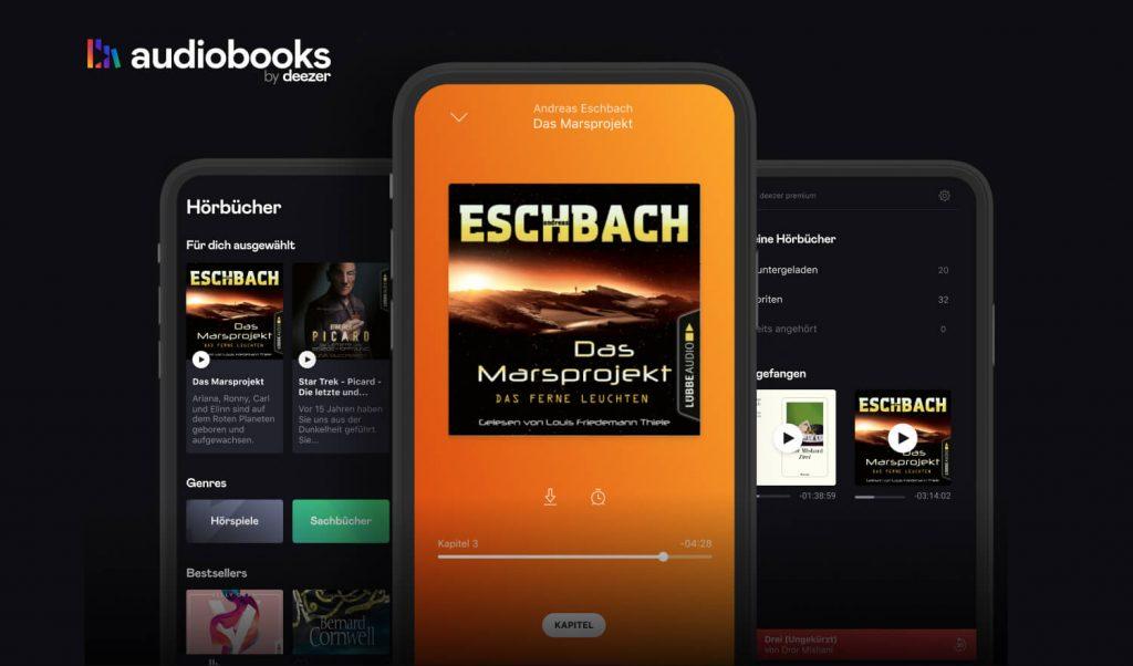 Hörbücher in der App Audiobooks by Deezer (Bild: Deezer)