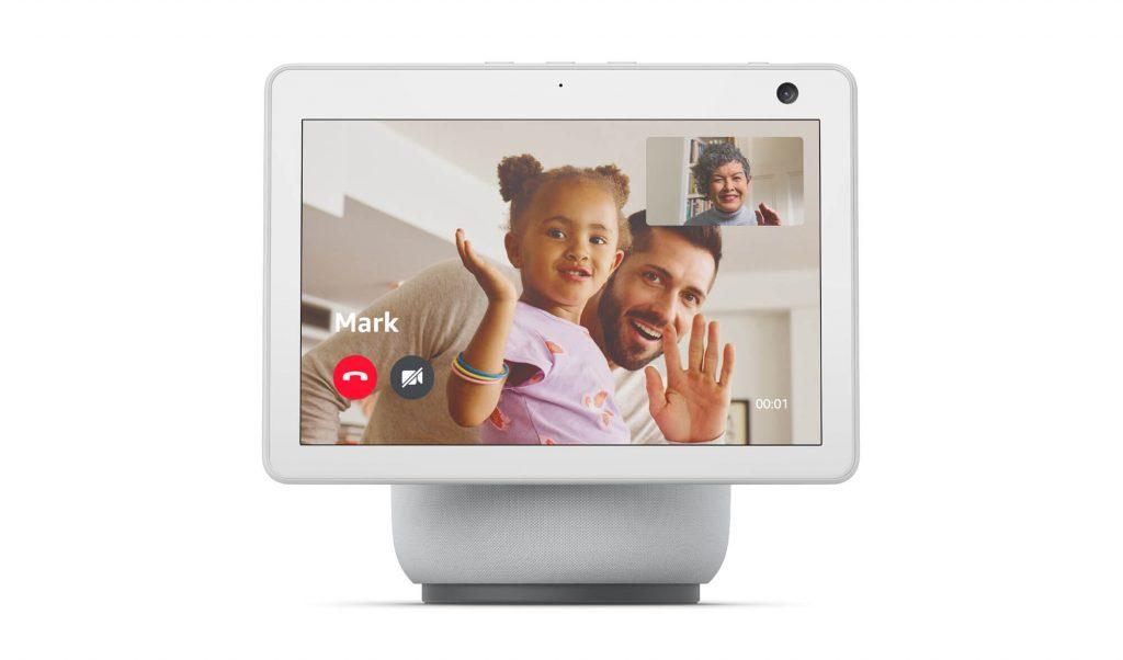 Videotelefonat auf Echo Show 10 in weiß (Bild: Amazon)