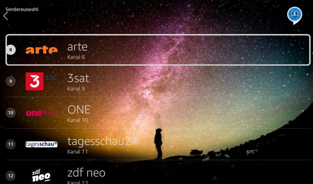 Stream Player Senderliste (Screenshot: artofsmart.de)