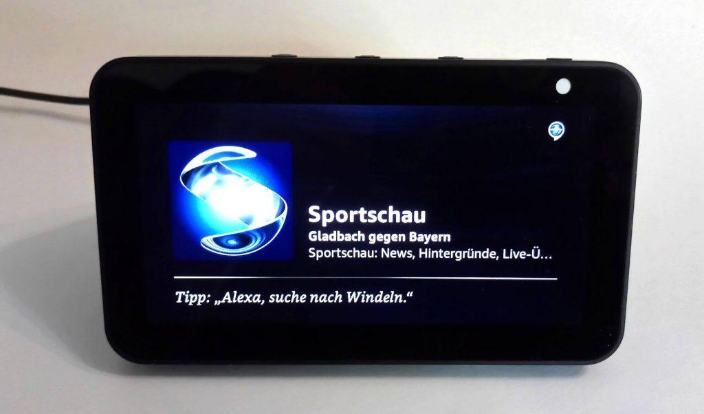 Sportschau mit Bundesliga live auf Echo Show (Bild: artofsmart.de)